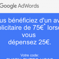 coupon promo Google Adwords - Web Media Anjou - Agence Web Angers