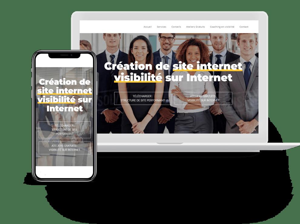 creation de site internet - version mobile