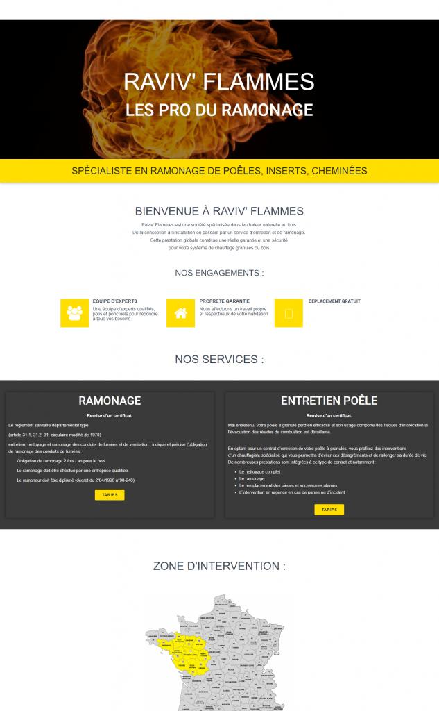 creation de site internet - pour ramonage
