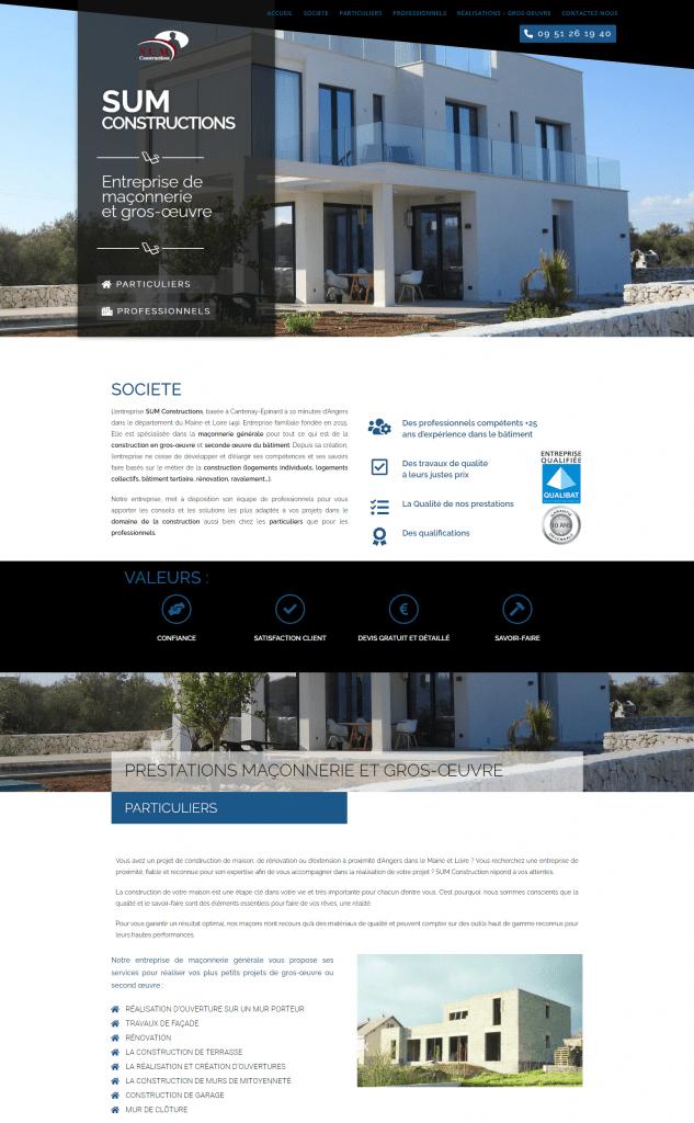 creation de site internet - pour construction