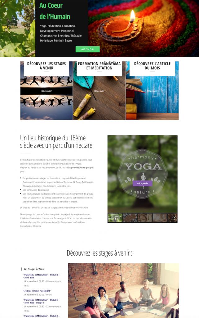 Creation de site internet -Formations, Yoga, e-commerce