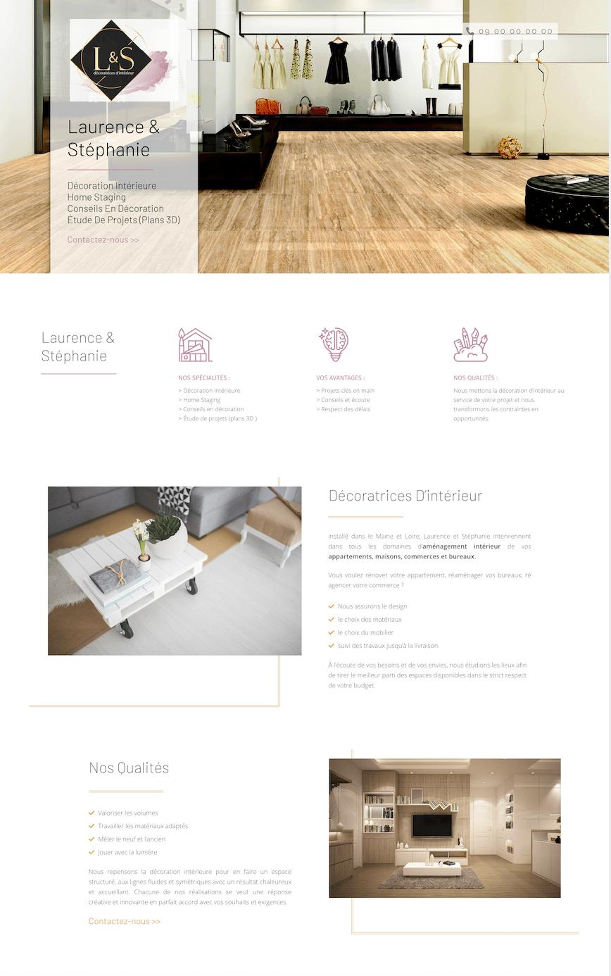 Creation de site internet pout decoratrice interior