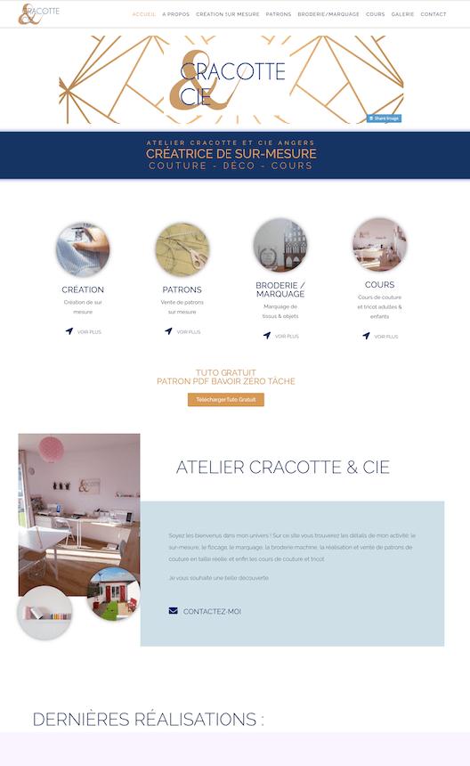 Creation de site internet atelier Cracotte et Cie Angers