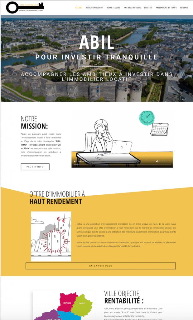 Creation de site internet immobilier