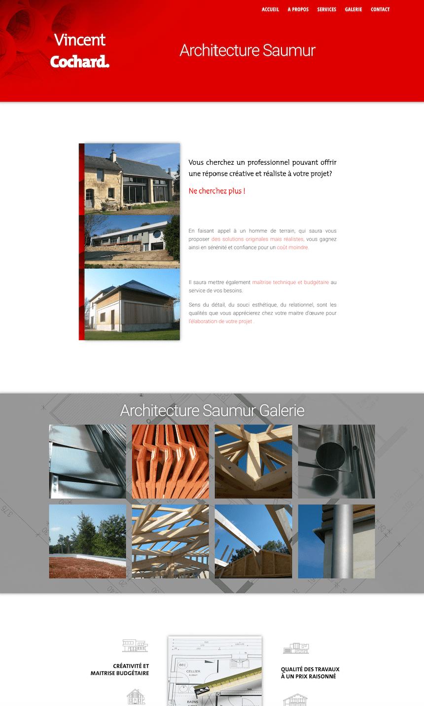 Creation de site internet pour architecture saumure